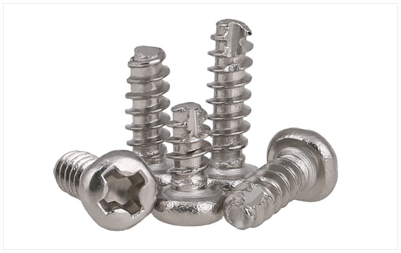 304 stainless steel Round head self-tapping screws Cut-off Slotted M2 M23 M26 M3 M3*6mm screws PT screws