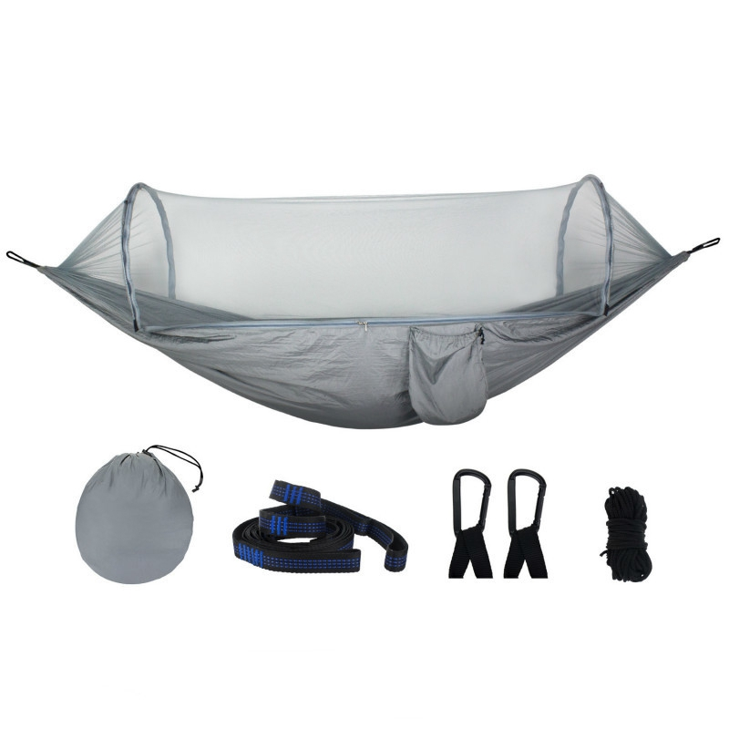 Large Hammock Mosquito Net Portable Outdoor Encryption Mesh Fit All Outdoor Hammock Camping Easily Installed Outdoor EquipmentLarge Hammock Mosquito Net Portable Outdoor Encryption Mesh Fit All Outdoor Hammock Camping Easily Installed Outdoor Equipment