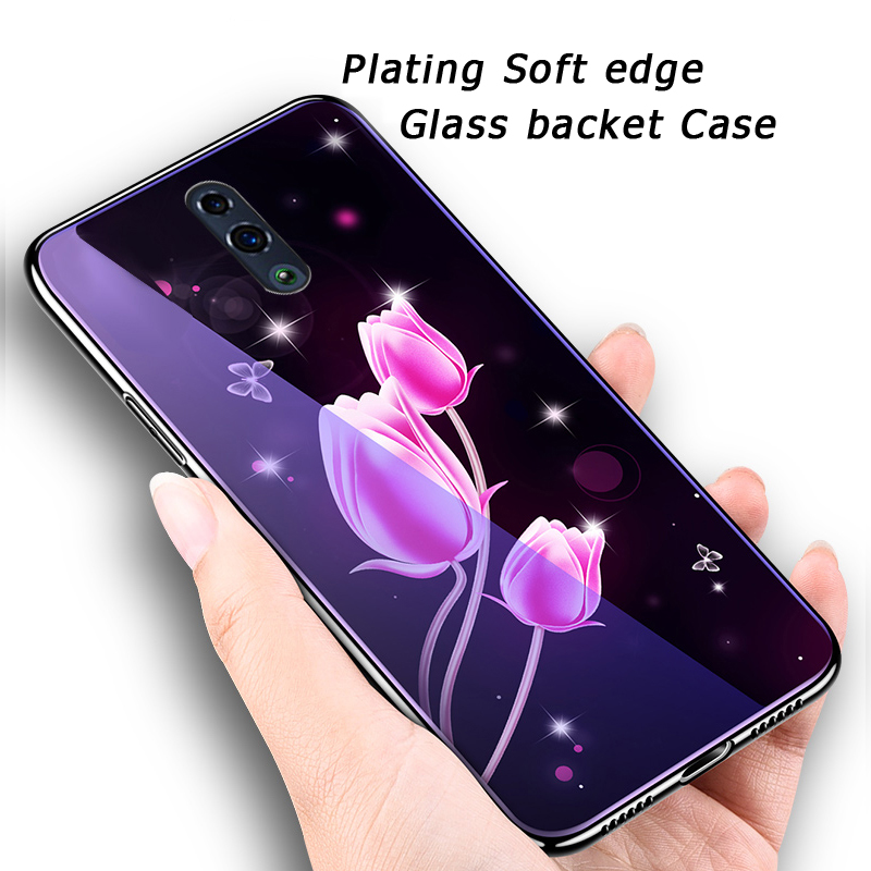 Tempered Glass Cases For <font><b>OPPO</b></font> <font><b>Reno</b></font> R17 K1 R15X F11 Pro R11 R11S Plus R7 Plus Thin Cover <font><b>Plating</b></font> Soft <font><b>TPU</b></font> Case <font><b>Reno</b></font> Backet Shell image
