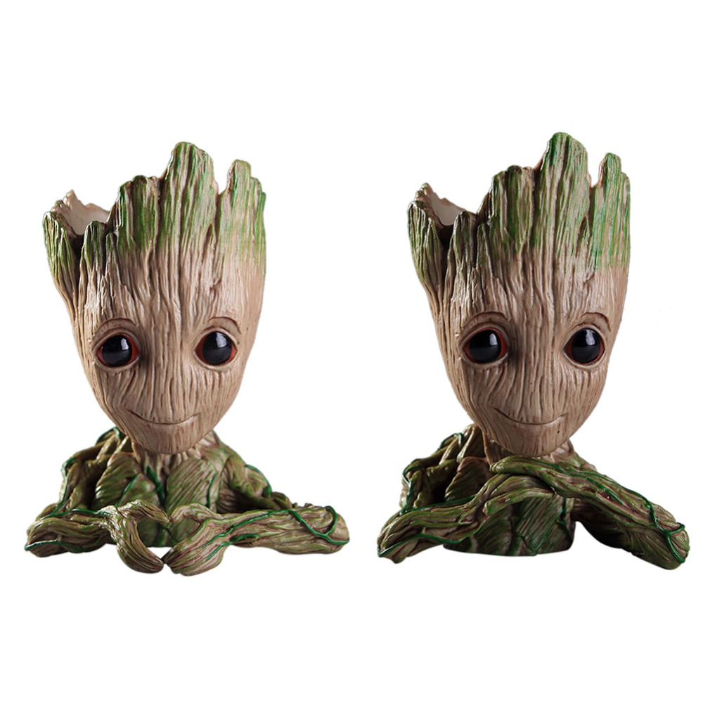 Baby Groot Flowerpot Tree Man Flower Pot Planter Action Figures Toy Cute Model Toy Pen Pot Support Dropshipping