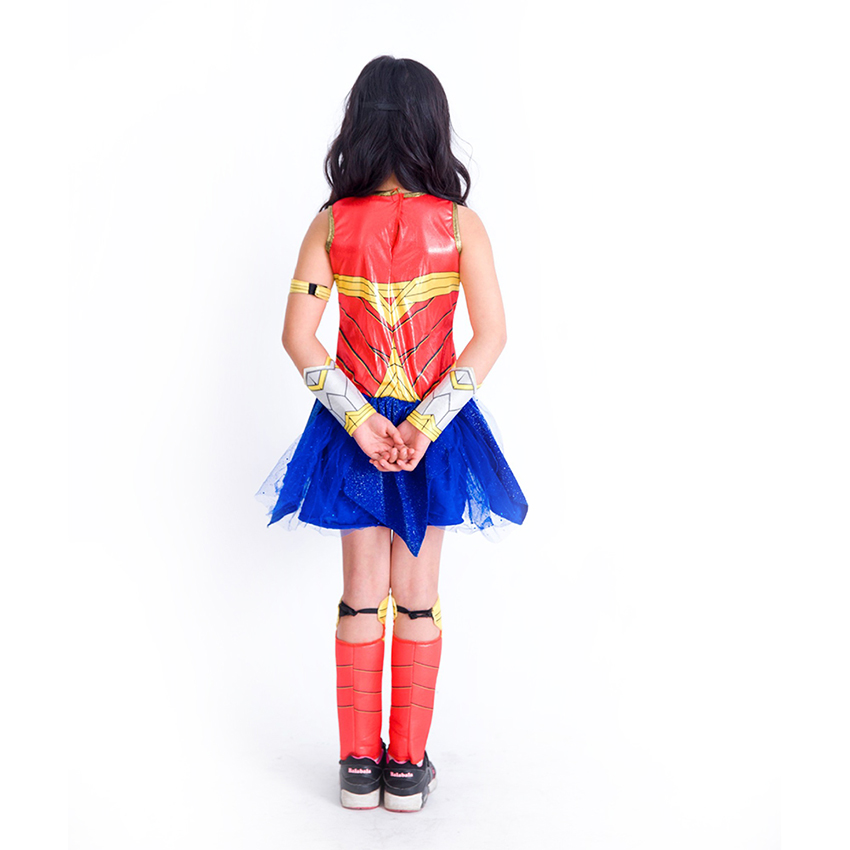 Wonder Woman Costumes Kids Girls Fancy Dress Justice League Spiderman Cosplay Halloween Costumes for Kids Supper Hero Costume in Girls Costumes from Novelty Special Use