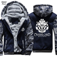 US size Hoodies Men Women for Anime Overlord 3 Ainz Ooal Gown Albedo Jacket Sweatshirts Thicken Hoodie Coat Clothing Casual (China)