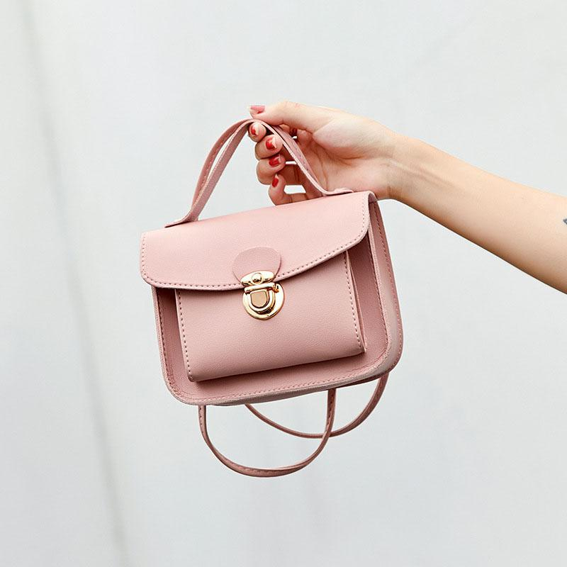 Summer Women Crossbody Bags Casual Fashion Solid Color Single Shoulder Bag Sweet Style Mini Square Bag For Women Wallet HandBags
