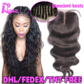Body Wave Lace Closure Brazilian Virgin Hair Lace Closure Bleached Knots,Human Hair Closure With Baby Hair,Lace Front Closures