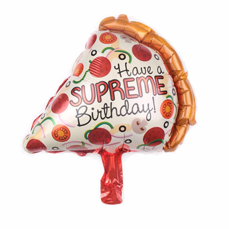 1 ピースミニ 40*30 センチアイスクリームバーガーホットドッグドーナツバルーンアルミ箔風船誕生日パーティーの装飾子供のおもちゃグロボス