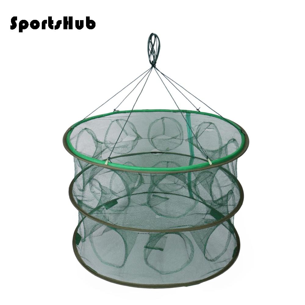 SPORTSHUB Kannettavat kalastuspuikot Kokoontaitettavat kalaverkot Verkon valumuotit Kalat Katkarapuja FT0012