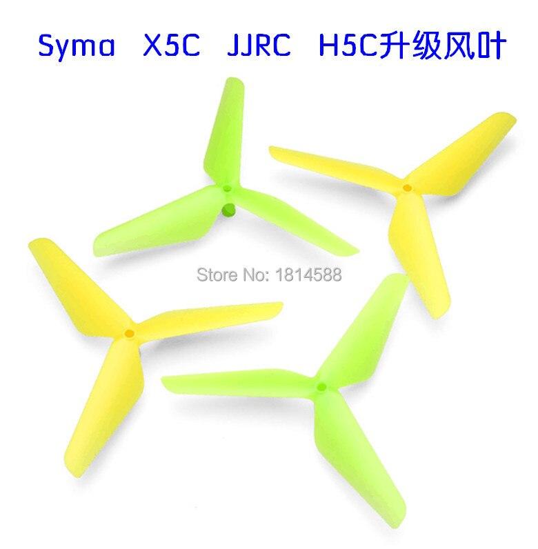 Venta al por mayor Syma X1 X5 X5C X5C-1 X5SC X5SCW H5C RC cuatro ejes hélice cuchillas, verde, amarillo actualización Accesorios KY606D drone 4 k HD fotografía aérea 1080 p Avión de cuatro ejes 20 minutos de vuelo presión de aire helicóptero de control remoto