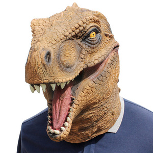 Image 3 - Realistic T Rex Dinosaur Mask Jurassic World Cosplay Mask Adults Animal Costume Party Mask Supplies
