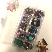 Free Shipping Scrapbook Mixed Color Metal Brads For Scrapbooking  5x9mm DIY Embellishments crafts