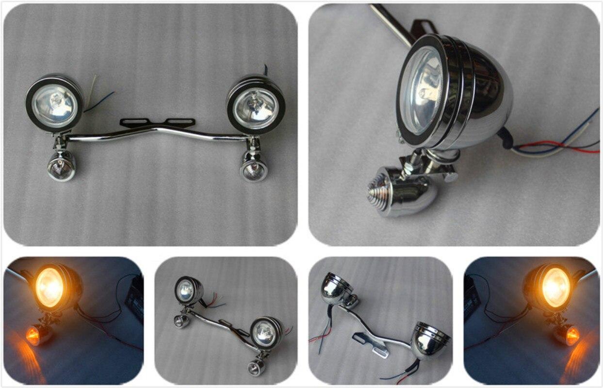 Accesorios de motos Modificadas Soporte Instalación Auxiliar Luces Pequeñas Luce