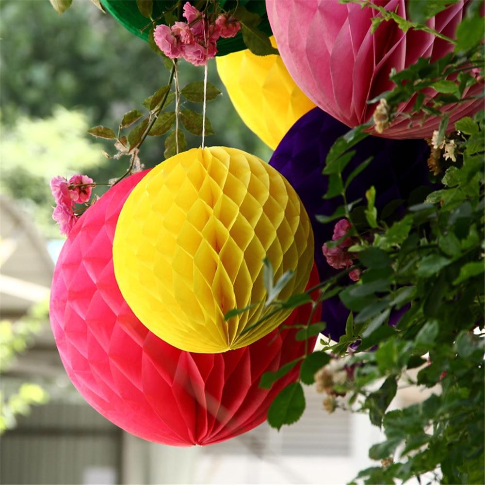20CM 1PCS/LOTS Honeycomb Balls Cellular Balls Paper Flower Balls ...