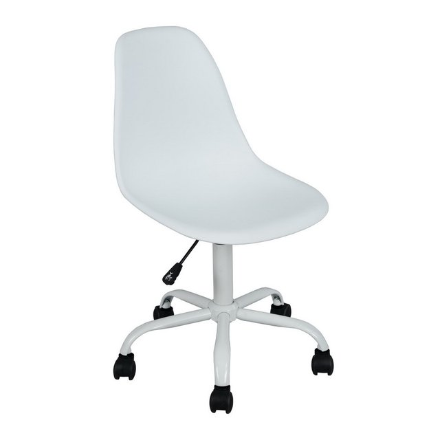 Eggree Modern Design Plastic And Steel Swivel Office Chair Computer Student Book Desk