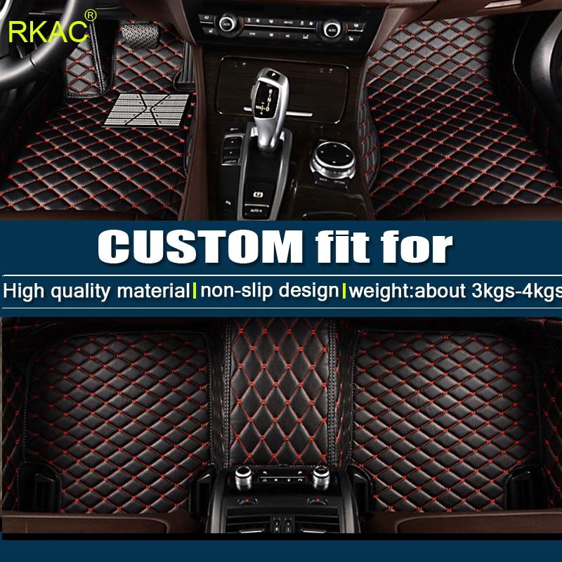 RKAC Custom FIT car floor mats For Volkswagen vw Atlas 2017 2018 car Carpet Pad Luxury Surround leather mat waterproof