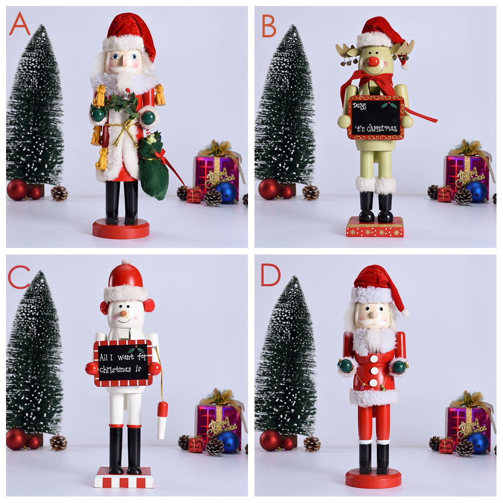 1pc 36cm Christmas Ornaments Nutcrackers Doll Handcraft Home ...