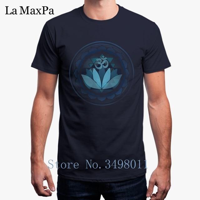 24a892ac3 Funny Buddhist Lotus Yogas Sanskrit Om T-Shirt For Men Cool Cotton Tshirt  Mens Clothing Men's T Shirt Camisetas Transfer