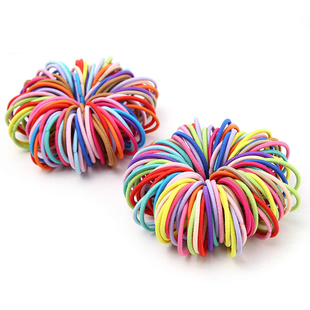 10 piezas lindo niños elástico Tiny cinta de goma niñas colorido cuerda anillo de cola de caballo titular accesorios para el cabello
