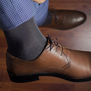 Image 4 - Match Up  Men Bamboo Black Socks Breathable Business Dress Socks (6 Pairs/Lot)