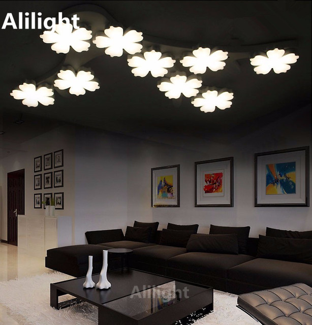 Twórczy Dekoracji Salonu Sypialni Nowoczesne Lampy Sufitowe Led