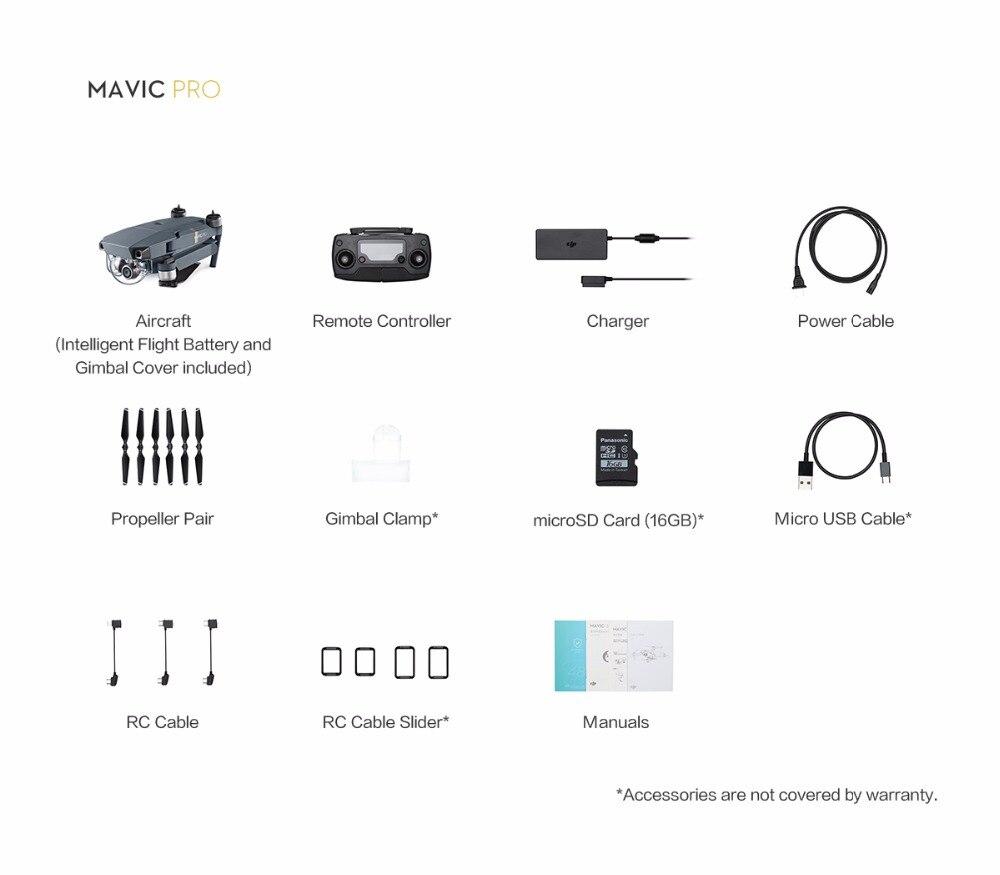 DJI Mavic Pro Drone Include 3 battery Mavic Pro Fly combo