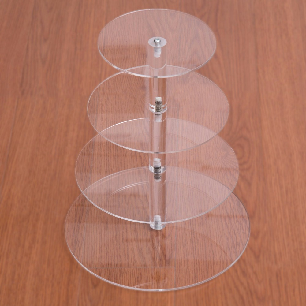 4 Tier Multi-layer Mousse Cake Stand Acrylic Round Wedding Cake ...