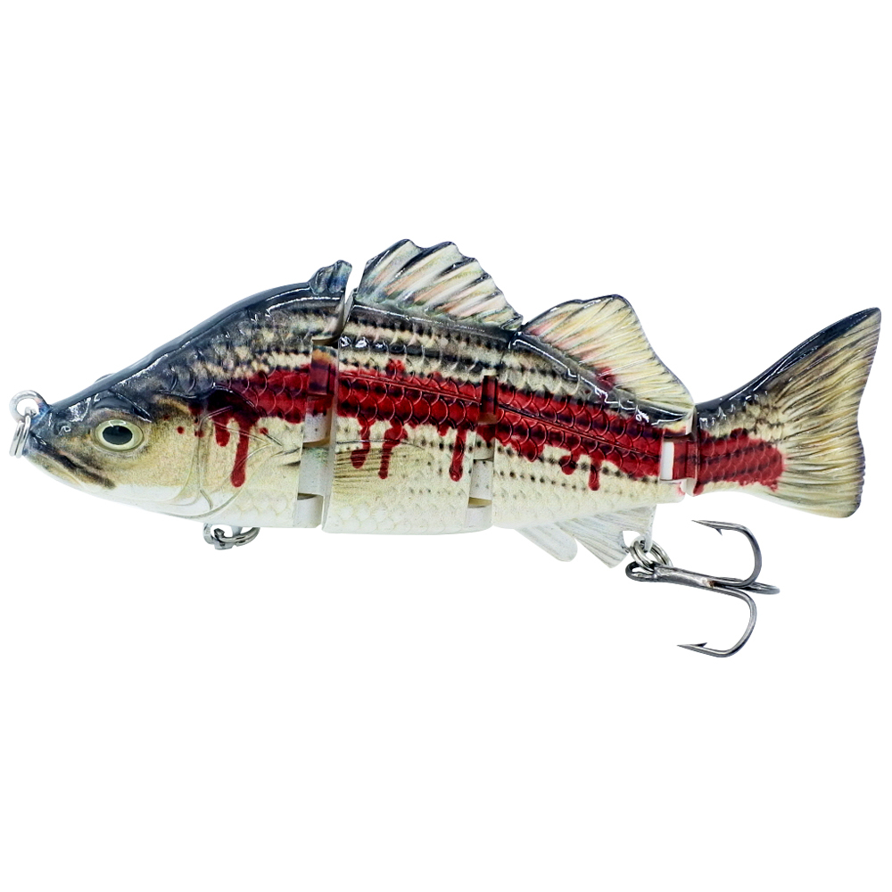 HONOREAL 23G 13cm Hard Multi Jointed Fishing Lure Swimbait Crankbait Pike Wobbler Minnow Artificial Bait