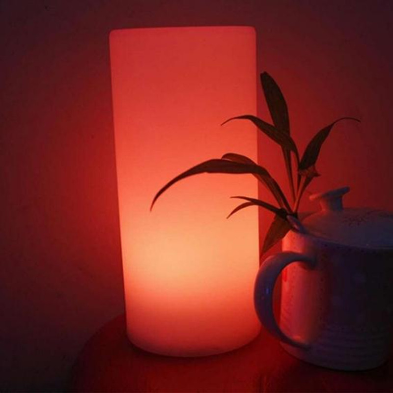 HZFCEW Romantic Colourful Desk Lamp Night Light Flashlight To Date Dinner Party RGB LED Furniture Light Remote Control FR240 l120 romantic date