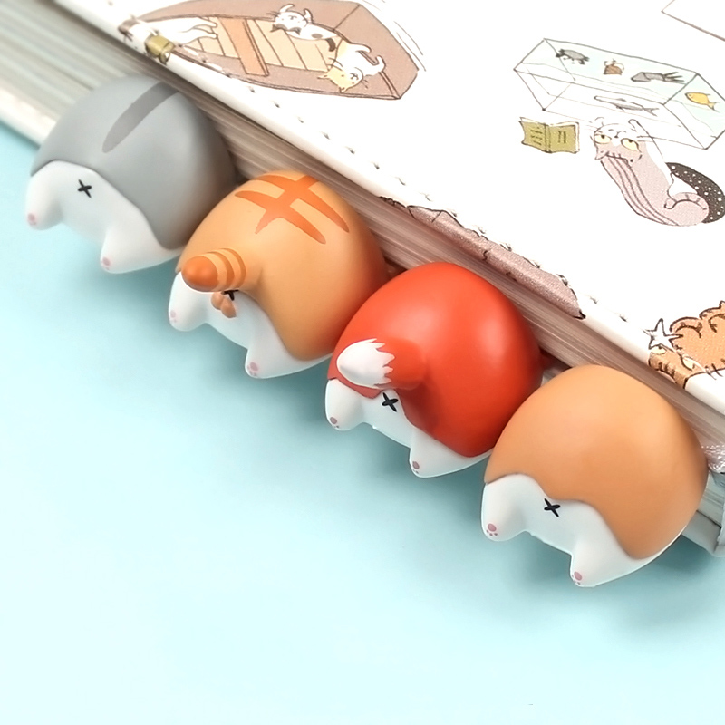 1PC Cute Animal Ass Bookmarks Creative Cat Dog Book Marks For Kids Girls Gift Office School Supplies Novelty Kawaii Stationery image