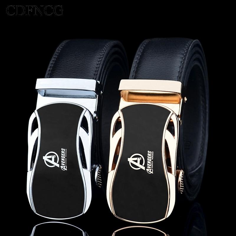 CDFNCG Designer Belts For Men's 2019 Avengers Automatic Buckle Belt Famous Luxury Brand Genuine Leather Kemer For Jeans Riem