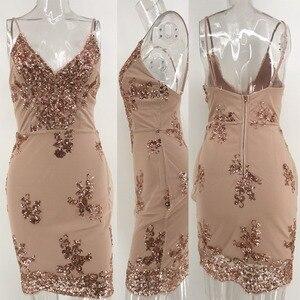 Image 5 - Соблазнительные Клубные наряды, летнее платье с блестками, женское черное облегающее мини платье для вечеринки, винтажные женские платья, одежда 2020