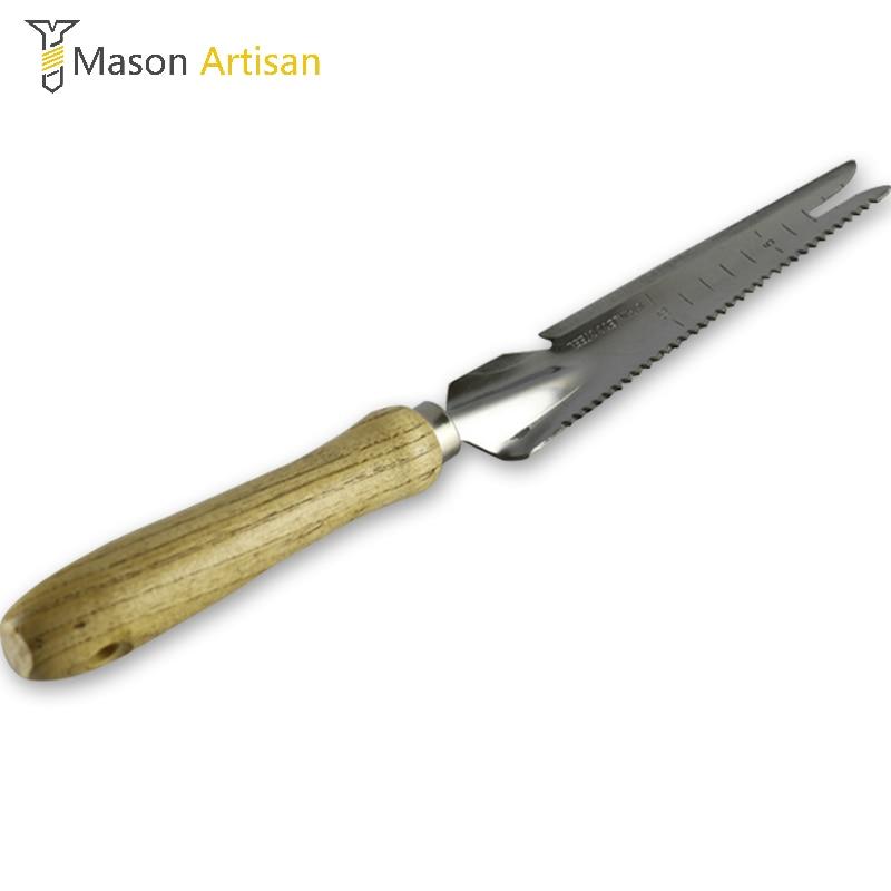 Wonderful 1Piece Stainless Steel Gardening Shovel Spade Manual Weeder With Sawtooth  Can Opener Wood Handle Digging Soil