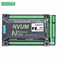 NVUM 4 Axis Cnc Engraver Mach3 USB Card 300KHz 3 4 6 Axis CNC Drilling Machine