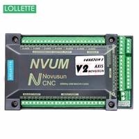 NVUM 4 Axis cnc engraver Mach3 USB Card 300KHz 3 4 6 Axis CNC drilling machine Motion Control Card Breakout Board