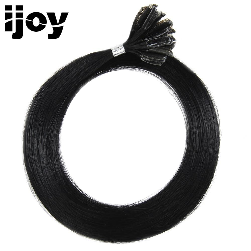 IJOY # 1B Remy Straight Nail U Tip človeški lasni podaljški Fusion - Človeški lasje (za bele)