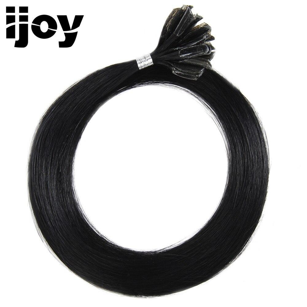 IJOY # 1B Remy Straight Nail U padoms cilvēka matu pieaudzēšanai - Cilvēka mati (baltajiem) - Foto 1