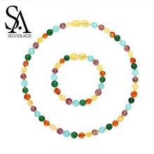 Женское Ожерелье с бусинами sa silverage ожерелье из натурального