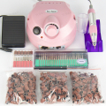 Pro 30000RPM Pink 220V EU Plug Electric Nail Drill Machine File Bits Pedicure Manicure Kit Nail