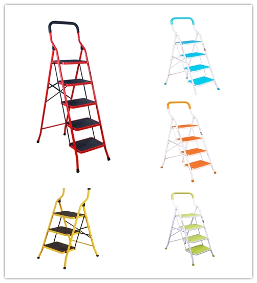 3/4/5 Steps Step Ladder Foldable Safety Ladder Non Slip For Home Kitchen Garage Step Ladder DQTY03/04/05 цена