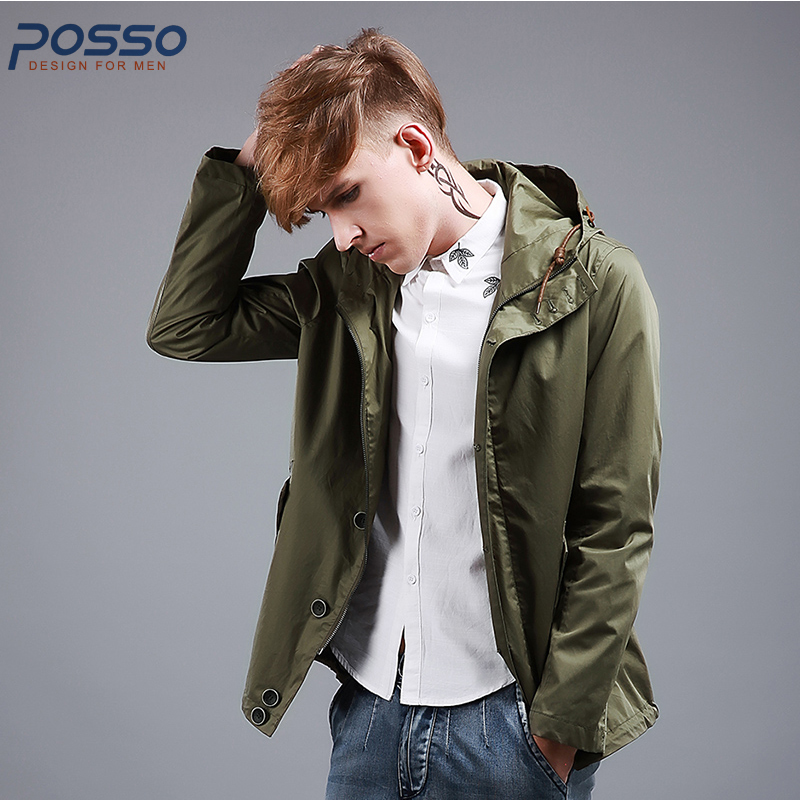 2018 New Spring Jacket Men Fashion Jacket Hoodies Style Men Casual Jacket Army Green Jacket Youth Fashion Spring Coat fashion new spring