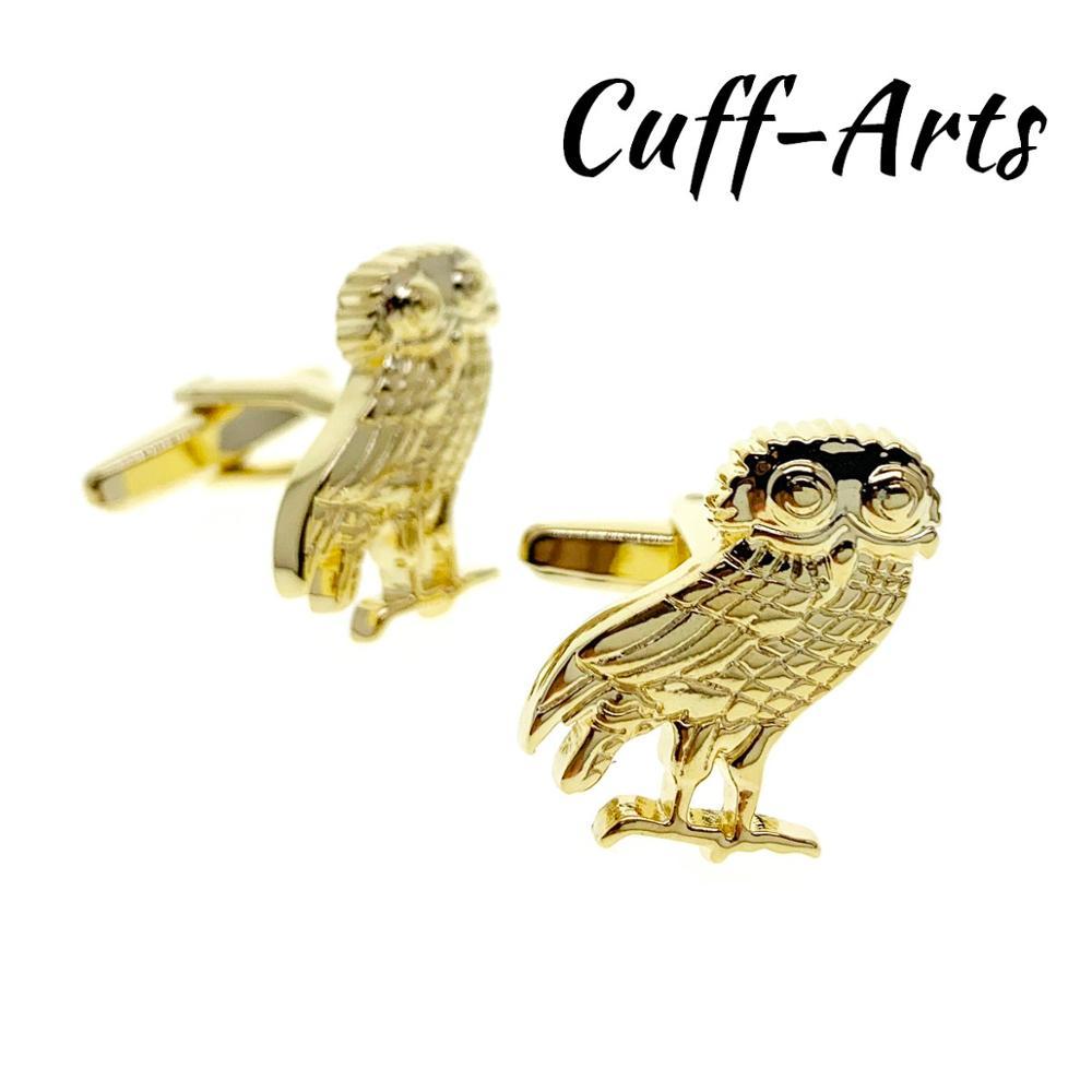 Cufflinks For Men Wise Old Owl Golden Cufflinks Gemelos Gemelli Spinki By Cuffarts C10417