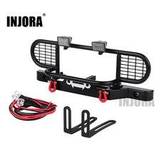 INJORA TRX4 מתכת קדמי גביע גמל פגוש עם אור עבור 1/10 RC Crawler רכב Traxxas TRX4 TRX 4 Defender