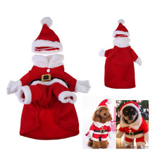 Standing Christmas Dog Clothes For Small Dogs Winter Coat French Bulldog Jacket Chihuahua Shih Tzu Outfit Puppy Pet Clothes XSXL cartoon funny christmas dog clothes for small dogs winter coat french bulldog jacket chihuahua shih tzu outfit puppy pet clothes