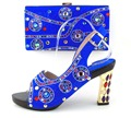 Hot Selling African Women Shoes And Bags Set!High Quality Italian Shoes And Matching Bags For Wedding! !OH1-16
