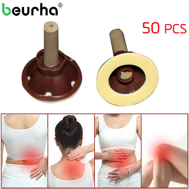 50PCS Acupuntura Moxibustion Wormwood Stick Vacuum Cupping for Back Knee Joint Pain Relife Body Massage Relaxation Health Care