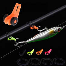 WALK FISH 10PCS/Lot Multi Color Pescaria Acessorios Plastic HooK Keeper Lure Holder Small Carp Fishing Tackle Accessories