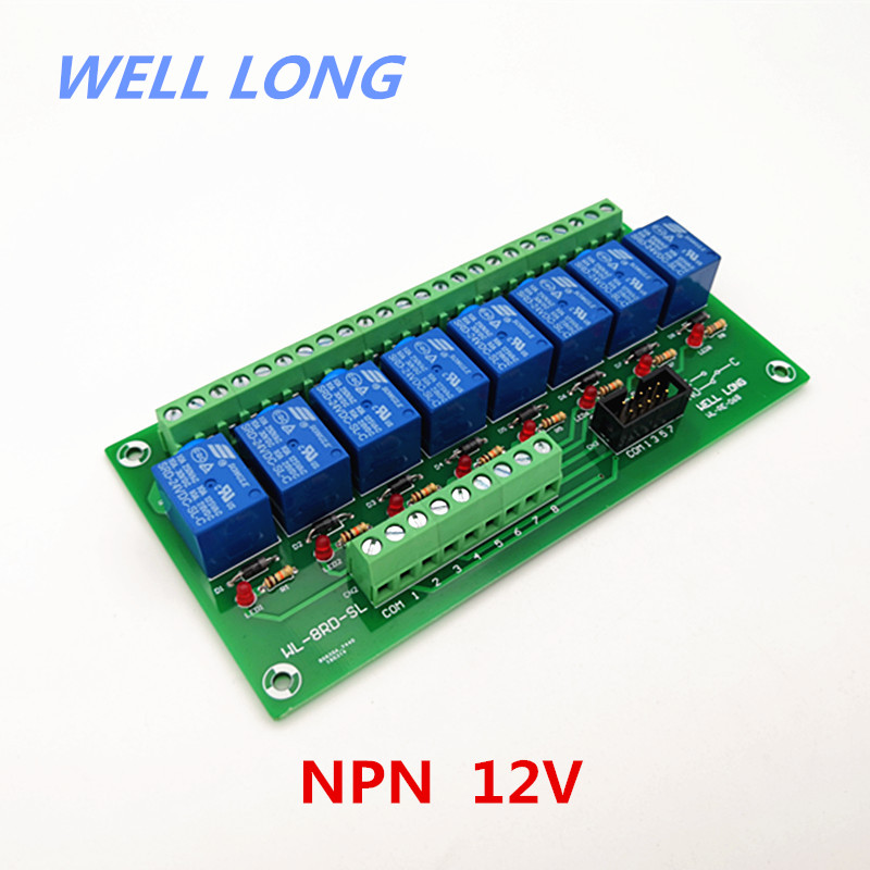 8 Channel NPN Type 12V 10A Power Relay Interface Module,SONGLE SRD 12VDC SL C Relay.