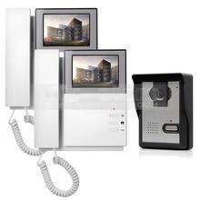 DIYSECUR 800×480 HD de 4.3 pulgadas Teléfono Video de La Puerta de Intercomunicación de Vídeo timbre 1 Cámara 2 Monitores para Casa/Oficina De Seguridad Del Sistema
