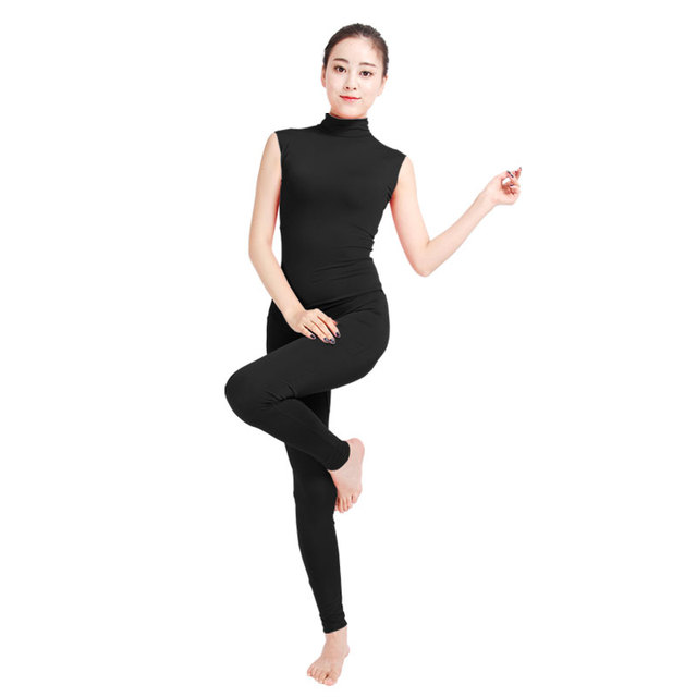 db949dfc6cda Ensnovo Women Sleeveless Unitard Lycra Skin Suit Lycra Nylon Spandex  Jumpsuit and Romper Gymnastic Yoga Unitard Dance Costumes