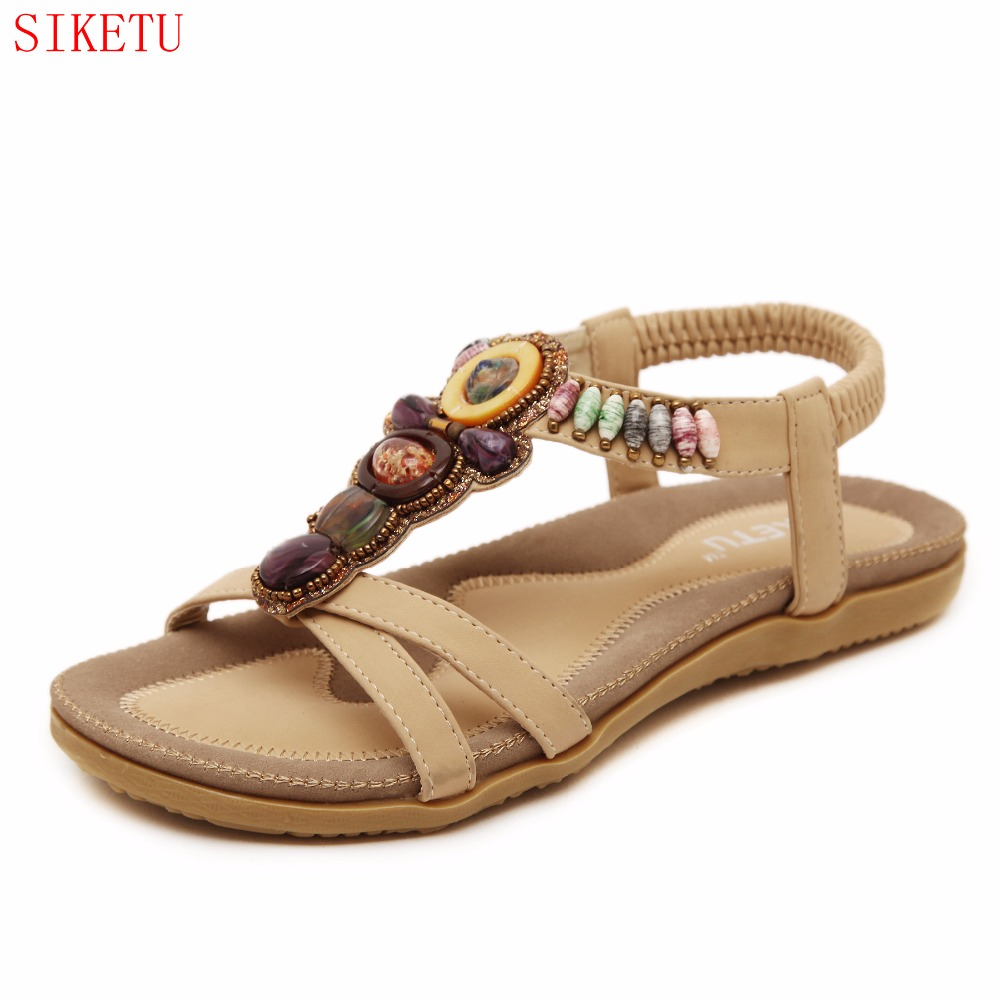 New summer shoes women fashion flat women Sandals Leisure Bohemia Ladies beach Flip Flops Soft casual female Sandals shoe 148-A8 summer leisure slippers slip on round toe comfortable sandals women flat sandals casual flip flops female shoes