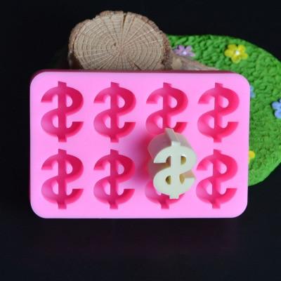 $ Dollar symbol Money Sign Silicone fondant Mold, Chocolate Mold, Cake Decoration Tools,USD Cake mold h542