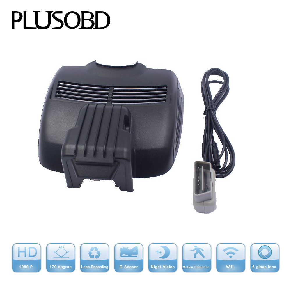 PLUSOBD Hd 1080p Car DVR Vehicle Camera Video Recorder Dash Cam G sensor Hdmi For Mercedes Benz E W207 2009 2017+OBDII Adapter